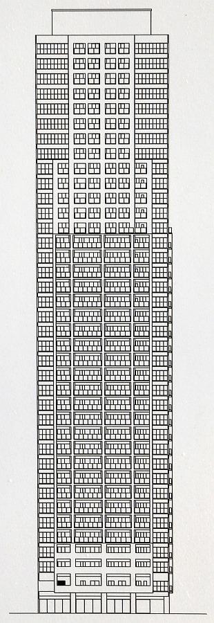 (仮称)グランドメゾン内久宝寺町2丁目タワー計画 立面図