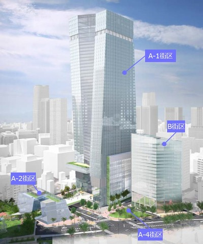 虎ノ門一・二丁目地区第一種市街地再開発事業 イメージパース