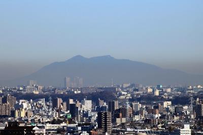 筑波山と柏の葉キャンパスのタワーマンション群