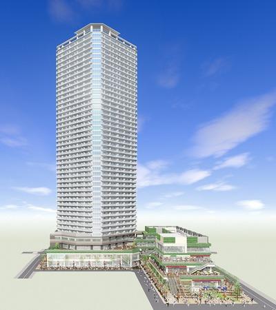 小杉町3丁目東地区市街地再開発事業 完成予想図