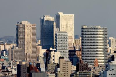 北とぴあから見た南千住のタワーマンション群