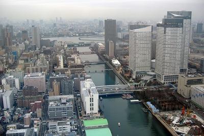 THE TOKYO TOWERSから見た勝どき東再開発予定地