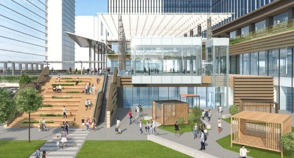 (仮称)みなとみらい21中央地区53街区開発事業 大階段・ゲートプラザイメージ