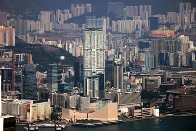 香港のヴィクトリアピークからの眺め