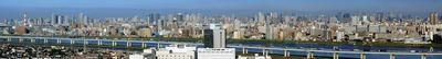 江戸川区から見る東京超高層ビル群パノラマ