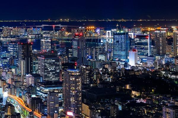 三田方面の夜景