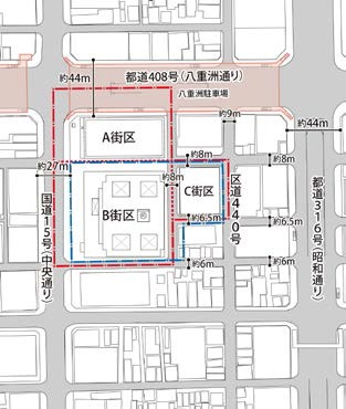 京橋一丁目東地区 配置図