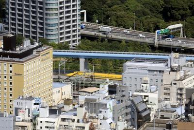 東京タワーから見たドクターイエロー