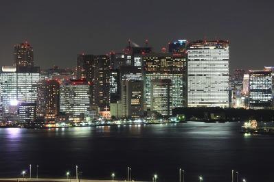 フジテレビから汐留方面の夜景