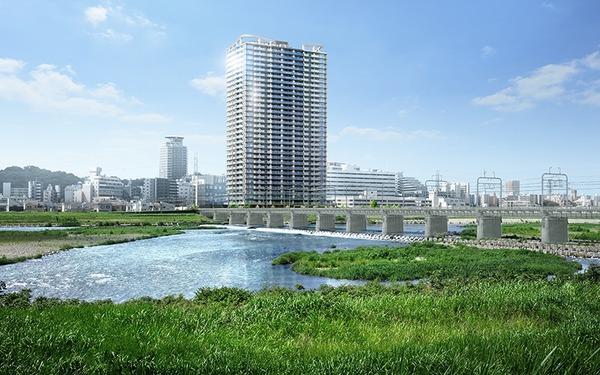 ブリリアタワー聖蹟桜ヶ丘ブルーミングレジデンス 外観完成予想CG