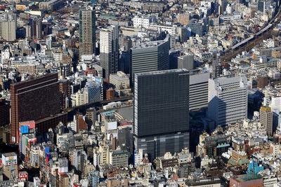 新宿東宝ビル(ホテルグレイスリー新宿)の空撮