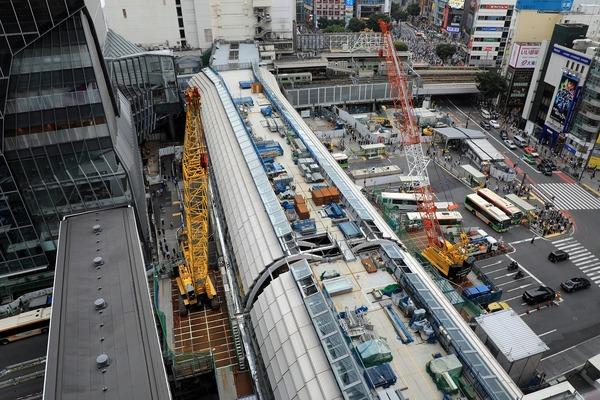 東京メトロ銀座線「渋谷」駅の移設工事