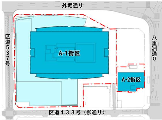 東京ミッドタウン八重洲 配置図