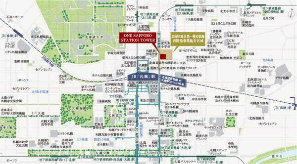 ONE札幌ステーションタワー 位置図
