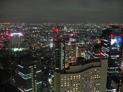 ごだいご 新宿住友ビル店からの夜景