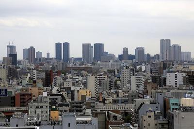 江戸東京博物館から望む東雲・豊洲方面
