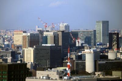 赤プリ36階から秋葉原・御茶ノ水方面の眺め