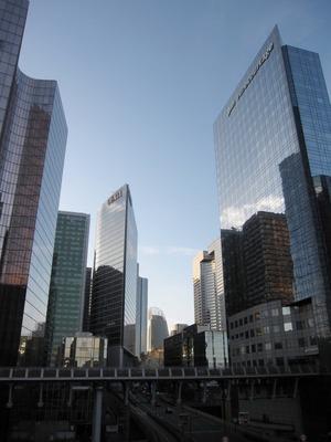 フランスのラ・デファンス地区の超高層ビル群