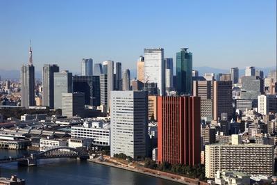 ムーンアイランドタワーから汐留の超高層ビル群