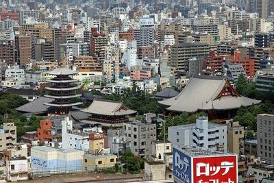 アサヒビールタワーから見た浅草寺