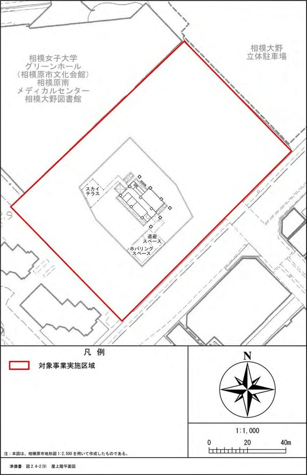 (仮称)相模大野4丁目計画 屋上階平面図