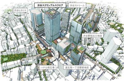 将来の渋谷周辺の鳥瞰図