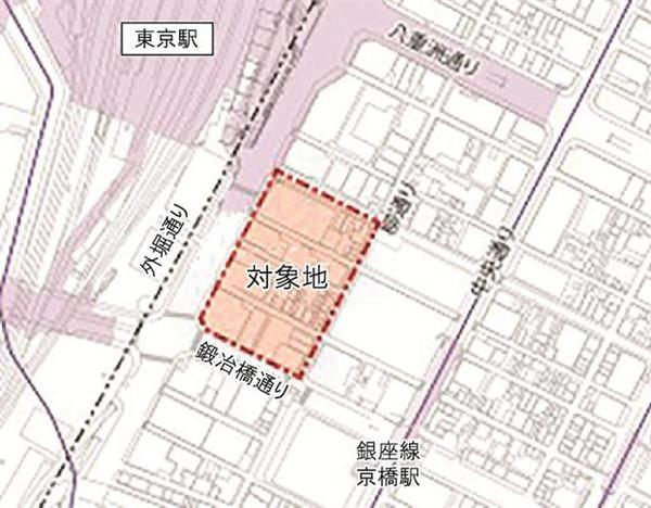 八重洲二丁目中地区第一種市街地再開発事業 位置図