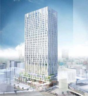(仮称)渋谷駅南街区プロジェクト B-1棟の完成予想図