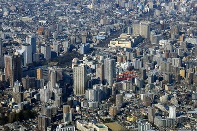 川口栄町3丁目銀座地区第一種市街地再開発事業 建設地の空撮