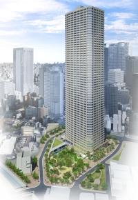 西新宿五丁目中央北地区第一種市街地再開発事業 完成予想図
