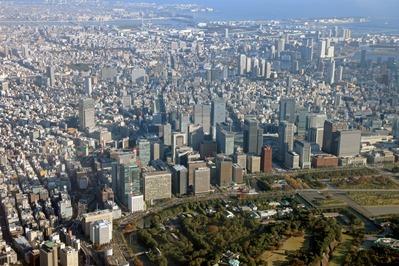 空撮 東京超高層ビル群