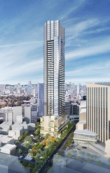 西麻布三丁目北東地区第一種市街地再開発事業 イメージパース