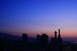 ホテルオークラ神戸から三宮の朝焼け