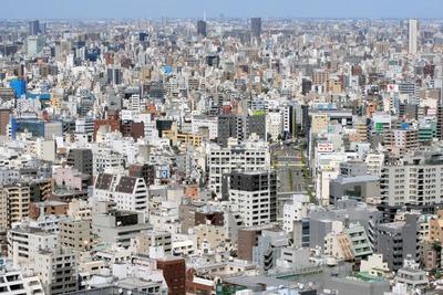 リガーレ日本橋人形から見た台東区方面