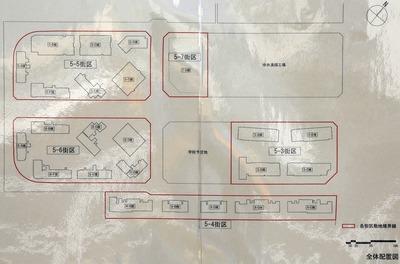 晴海五丁目西地区第一種市街地再開発事業 全体配置図