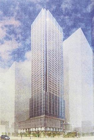 浜松町二丁目C地区再開発 完成予想図