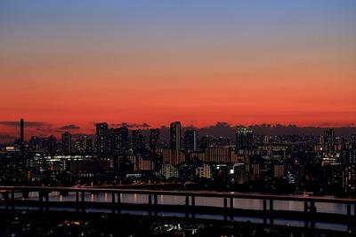 東雲方面の夕景