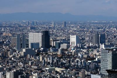 都庁から見た中野の超高層ビル群