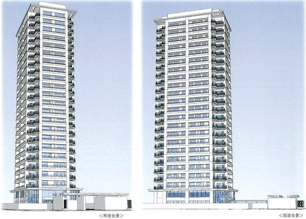 (仮称)白金一丁目タワープロジェクト 外観完成予想イラスト