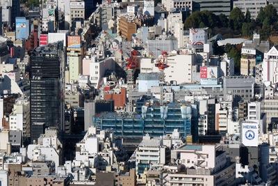 東京スカイツリーから見た(仮称)東上野二丁目計画