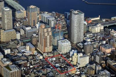 月島駅周辺の空撮