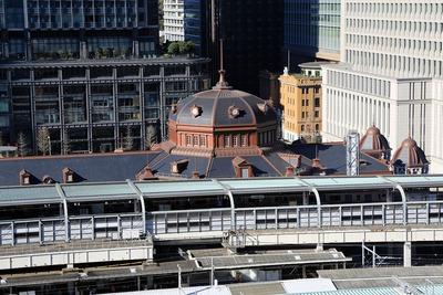 大丸東京店から見た東京駅丸の内駅舎