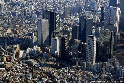 ザ・パークハウス 西新宿タワー60の建設地の空撮
