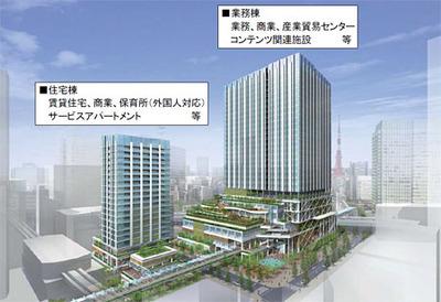 都市再生ステップアップ・プロジェクト(竹芝地区)の完成予想図