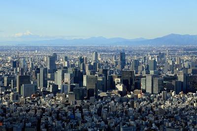 東京駅周辺の超高層ビル群