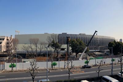 解体工事中の国立競技場