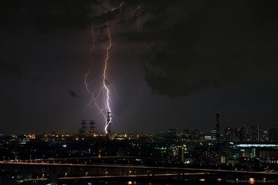 川崎方面の落雷