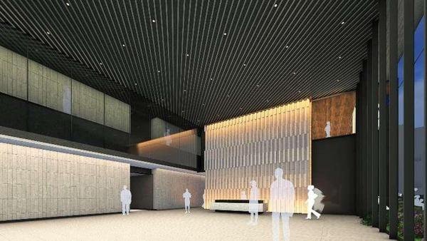 (仮称)大阪三菱ビル建替え計画 1階オフィスロビー