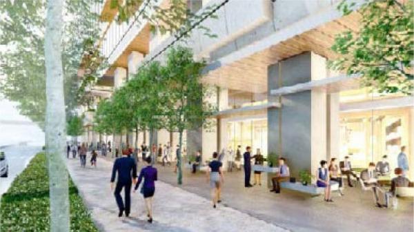 日本橋一丁目東地区第一種市街地再開発事業 A街区昭和通り沿道イメージ