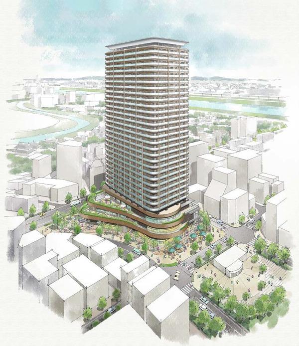 平井五丁目駅前地区第一種市街地再開発事業 完成イメージパース